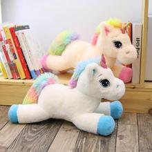 1pc 80cm Soft Unicorn Plush Toy Cute Animal Stuffed Doll Pillow Kids Kawaii Figure Fluffy Gift For Children Girls