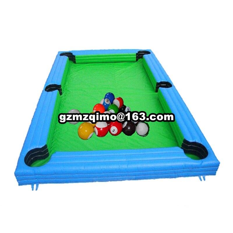 MZQM gonflable domaine de billard pour extérieur ou intérieur/durable gonflable conseil terrain de football à vente de billard/snooker pool