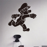 Wall Vinyl Sticker Super Mario Video Game Hero Vinyl Decal Retro Games Home Interior Removable Wall