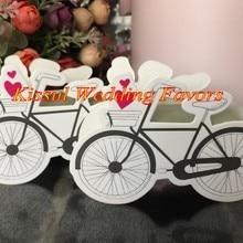 (50 unids/lote) caja de regalo de recuerdo de boda caja de dulces de boda de bicicleta Vintage para jardín fiesta temática caja de regalo decorativa