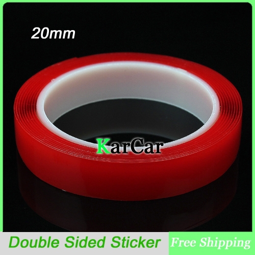 3m x 20mm Width Transparent Silicone Double Sided Tape Sticker For Car Accessories, High Strength No Traces Adhesive Sticker 10m super strong waterproof self adhesive double sided foam tape for car trim scotch