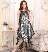 Novelty Chinese Women Summer Sexy Spaghetti Strap Nightgowns Soft Satin Underwear Intimate Lingerie Sleepshirt Night Dress