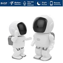 Мини Робот Сетевая IP Камера WI-FI HD 960 P 1,3-МЕГАПИКСЕЛЬНАЯ Встроенная Аудио P2P Onvif Ночного Видения SD Слот Для Карт TF Камеры Безопасности Ребенка монитор