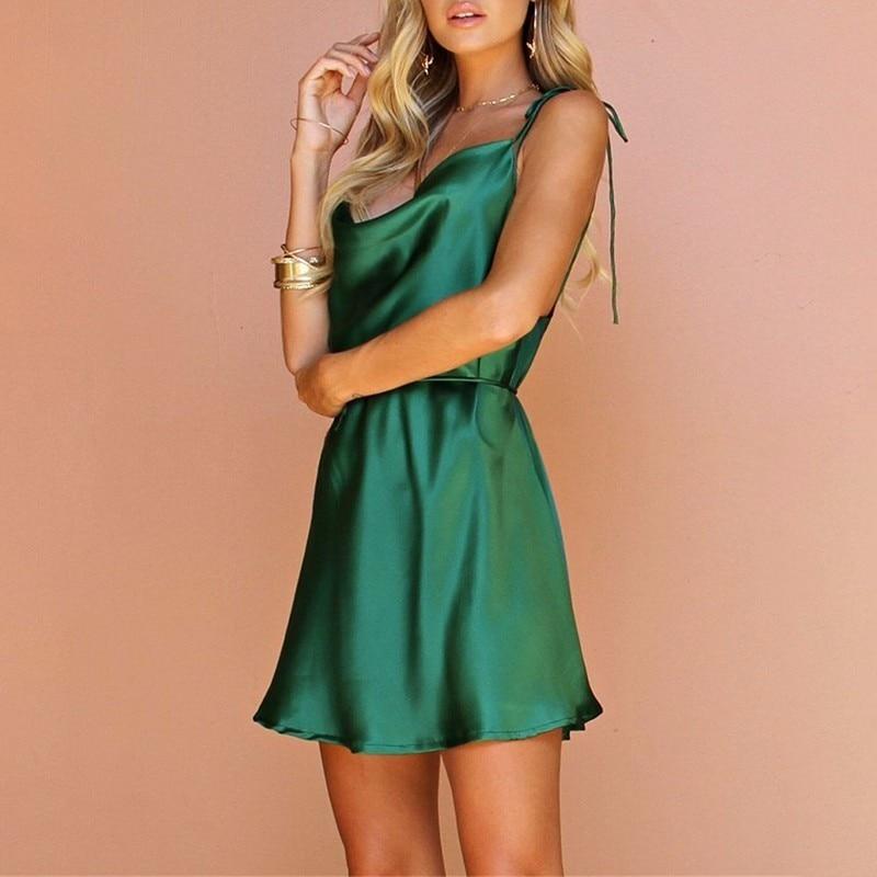Mini Robes D'été Twotwinstyle Sexy Vêtements Robe Épaule Dos Tunique Dentelle Up Col Nu En V Off Taille Green Haute Dress Féminine Mode Plage KTcuF13Jl