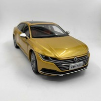 1:18 Diecast Model for Volkswagen VW All New CC Arteon 2018 Gold Alloy Toy Car Miniature Collection Gifts Passat Magotan
