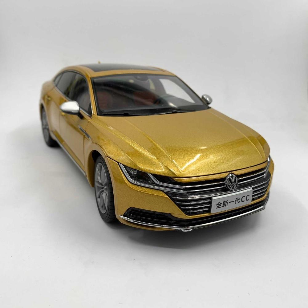 1:18 Miniature: pour Volkswagen VW Tous Les Nouveaux CC Arteon 2018 Or jouet en alliage Voiture Miniature Collection Cadeaux Passat Magotan