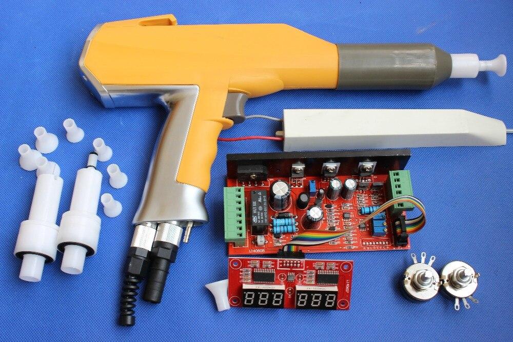 Sistema eletrostático manual da arma de pulverizador do revestimento do pó de digitas do grupo inteiro para gema