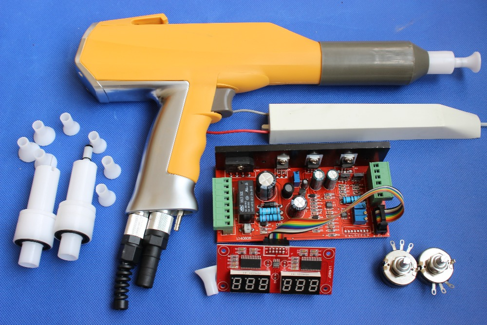 Whole Set Digital Manual Electrostatic Powder Coating Spray Gun System For Gema