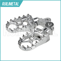 Motocross MX Offroad Front Foot Pegs Footpegs Footrests Pedals for Triumph Bonneville T100 T900 Trunxon 1200 01 15 14 13 12 11