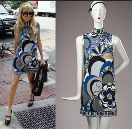 In the summer of 2017 ladies fashion sleeveless vest favors SILK JEREY elastic knitting slim dress