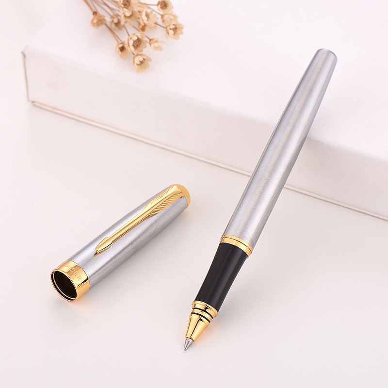 Baoer 388 Gel pen Rollerball Pen Black Golden Business Metal Ballpoint Pens for school Golden Clip Gold Bboligrafo Muji made cusBaoer 388 Gel pen Rollerball Pen Black Golden Business Metal Ballpoint Pens for school Golden Clip Gold Bboligrafo Muji made cus