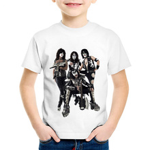 Kiss White T-Shirt Boys Girls Young Children