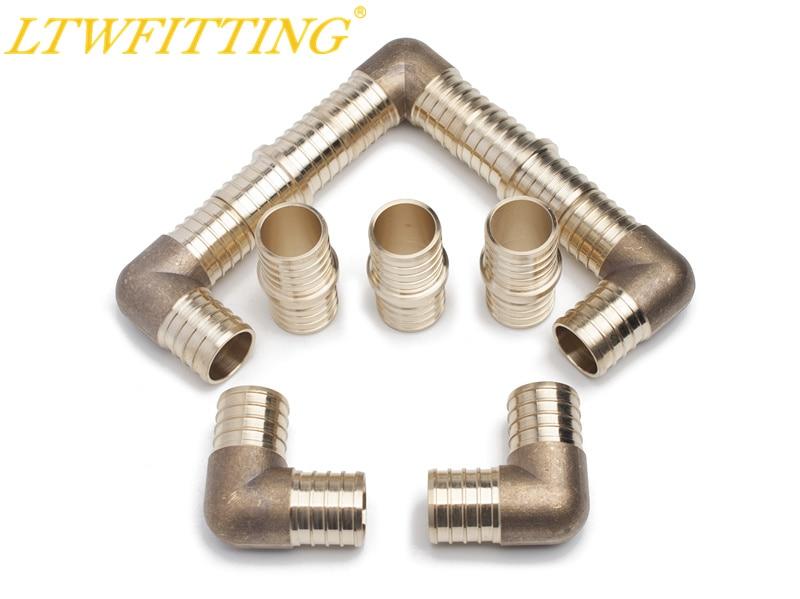 LTWFITTING Value Pack Lead Free Brass PEX Crimp Fitting 1