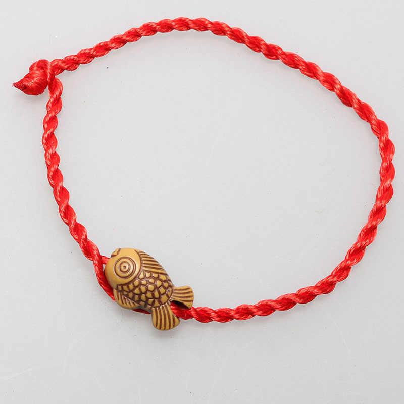 Boutique en ligne 972de eea8f Tibetano budista amor amuleto de la suerte hilo rojo cadena pulsera cuerda  de la suerte cuerda hecha a mano para Mujeres Hombres joyería pareja regalo