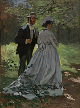 Monet Painting The Strollers For Wall Decoration Reproduction Oil Canvas Custom