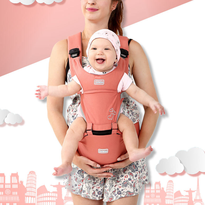 3 Colors Multifunctional Baby Hip Seat Carrier Ergonomic Soft Infants Waist Stool Strap For All Seasons
