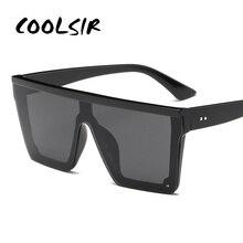 COOLSIR Brand Fashion Black One Piece Sunglasses Men Oversiz