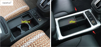 Accessories For Honda CRV CR V 2015 2016 Armrest Storage Pallet Container Box Water Cup Holder Frame Molding Cover Kit Trim 1Pcs