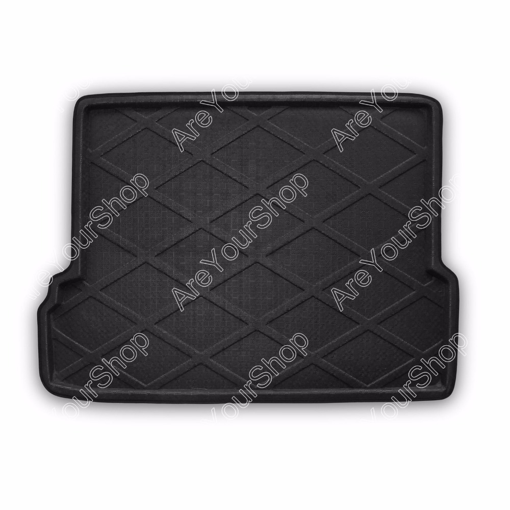 For Toyota Prado 2003-2013 Car Auto Rear Trunk Cargo Mat Boot liner Tray Sticker Dog Pet Covers 1PCS Black Car-Styling Stickers car rear trunk security shield cargo cover for volkswagen vw tiguan 2016 2017 2018 high qualit black beige auto accessories