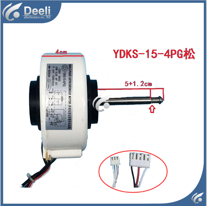 new good working for Air conditioner inner machine motor YDKS-15-4(PG) long Motor fan ups ems dhl 95% new good working for air conditioner inner machine motor fan ydk50 8g 3 7 line