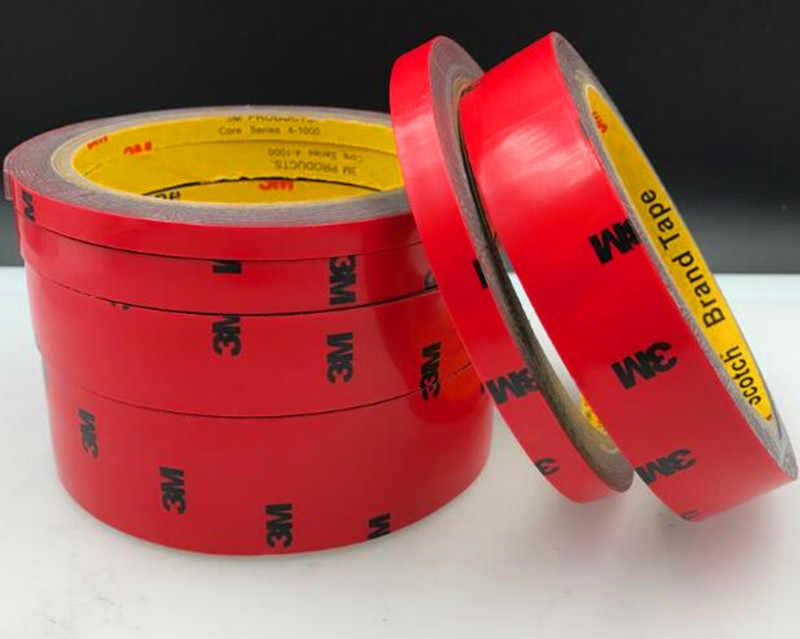6 мм x 3 м/3 м двусторонний скотч акриловая, пенная, клейкая Автомобильная Стайлинг, Внутренняя лента для украшения клеевой палки, ширина для стайлинга автомобиля 6 мм