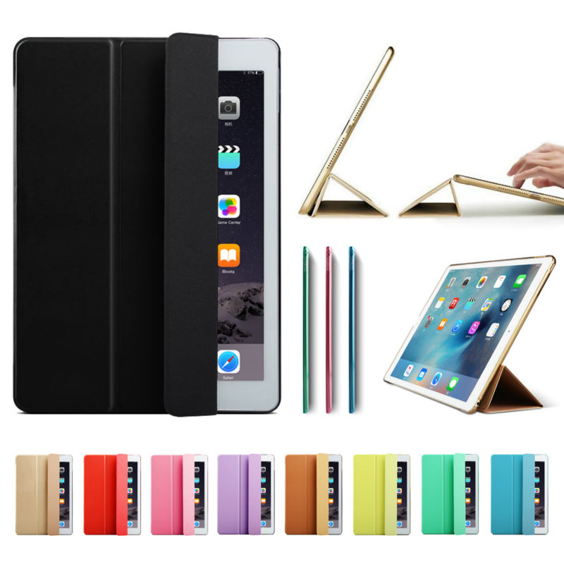 "Ultra Slim Smart Case Cover for Apple iPad Pro 12.9 2015 2016 12.9 ""2017 PU ტყავის ტაბლეტი Folio Cases Auto Wake / Sleep"