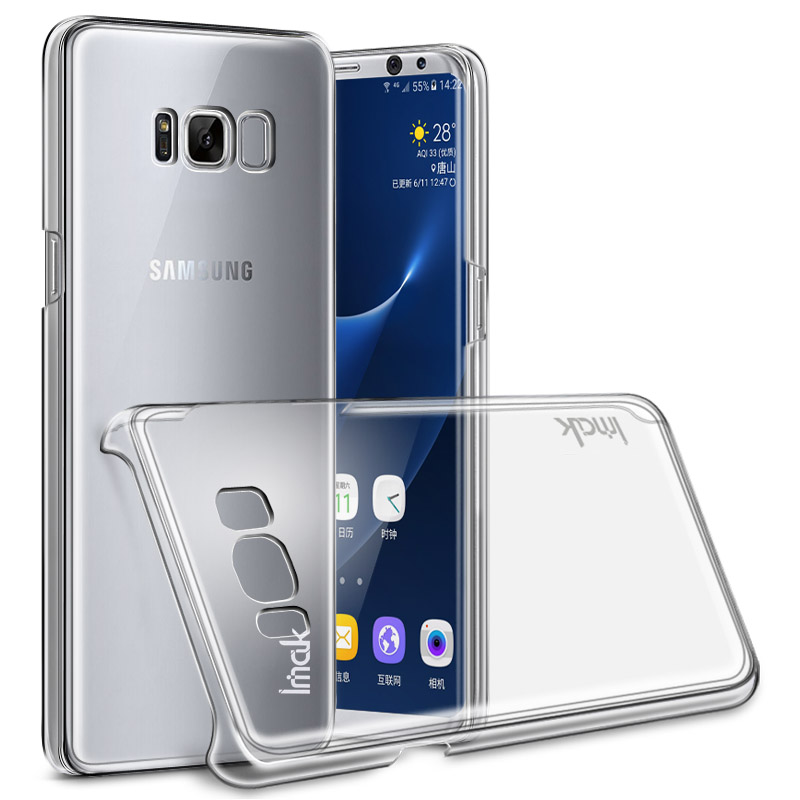Imak Hard Plastic Phone Cases For Samsung Galaxy S8 Samsung S8 PLUS Transparent Clear Crystal Protective Cover Back Case