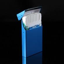 Fashion Ultra Thin Pipes Creative Personality Cigaret Case Slim Metal Clamshell Cigarette Box Aluminum Gift Box Cigarette Holder