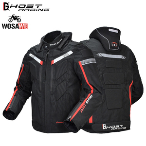 GHOST RACING Motorcycle Jacket Men's Motocross Racing Coat Auto Protective Gear Off Road Touring Clothing Shatter-resistant Suit