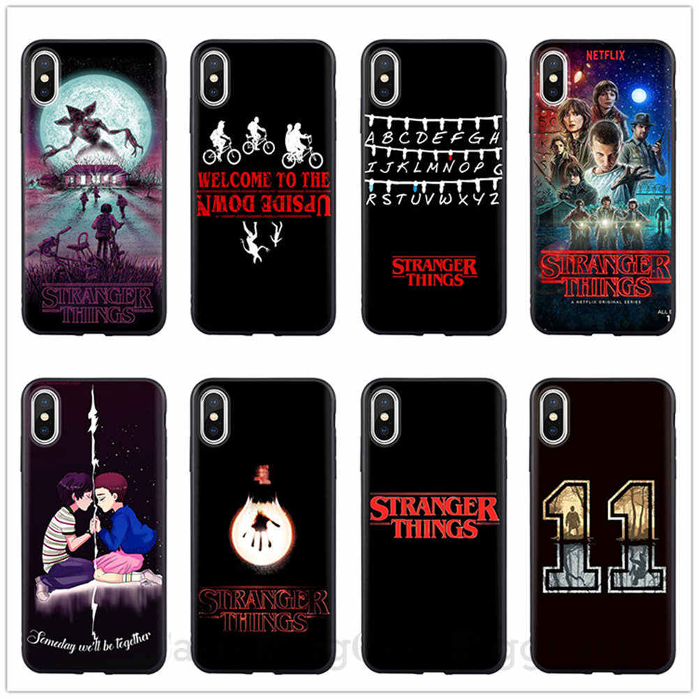 Stranger Things Christmas Lights Black Soft silicone Case For iPhone 6 6S 5 5S SE 7 7Plus 8 8Plus X XR XS MAX Phone Cover Coque For iPhone 11 Pro Max Cases