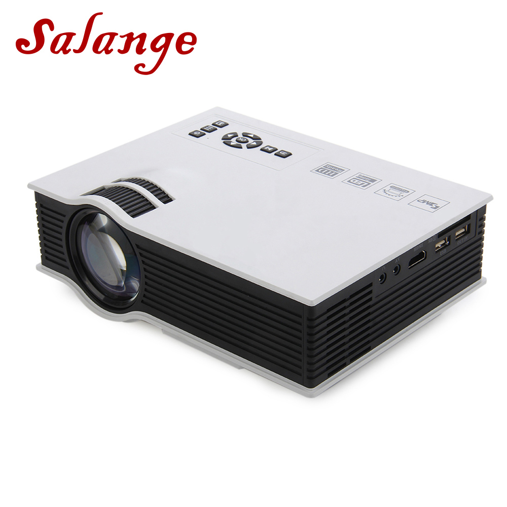 Salange UC40 Plus LED Projector 1200 lumens Home Theater Beamer Cheap Proyector with HDMI AV SD
