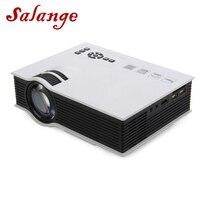 Salange UC40 Plus светодиодный проектор 1200 люмен проектор для домашнего кинотеатра дешевый проектор с HDMI AV SD VGA поддержка Full HD 1080P