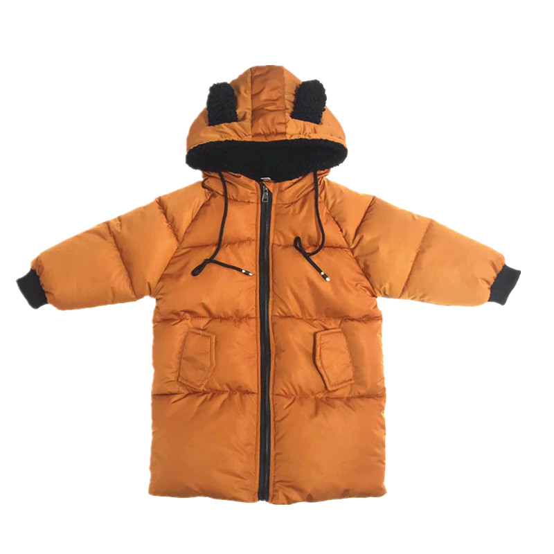 Down Jackets Girl Jackets for girls/boys winter coat fashion children clothing Kids Hooded Coat Thicken cotton-padded jacket 2018 children down coat long hooded winter jacket coat for girl letter patchwork boys winter jacket coat thicken warm kids parka