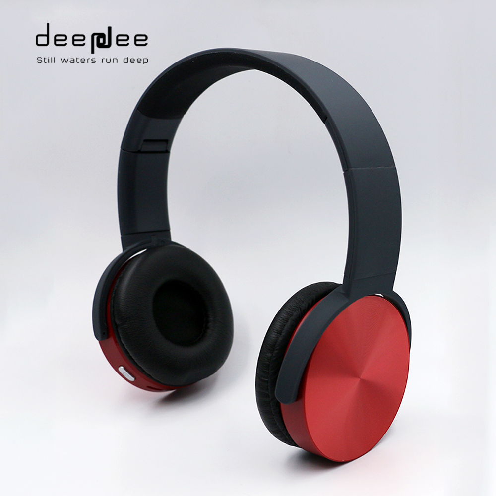 DEEPDEE Wireless Bluetooth Foldable Headphone Portable Music Sports Noise Cancelling Stereo Headset with Mic For SmartPhone new style portable wireless bluetooth foldable headphone noise cancelling headset