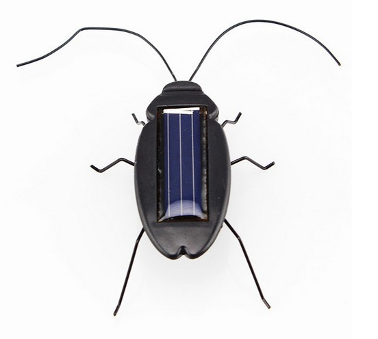 2018 Newest Top quality Solar Power Energy Cockroach 6 Legs Black Children Insect Bug Teaching Fun Gadget Toy Gift