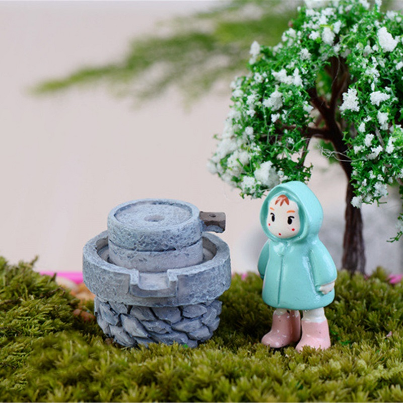Hot Sale House Fairy Garden Miniature Craft Micro Cottage Stone Mill  Landscape Decoration For Handmade DIY Resin Crafts