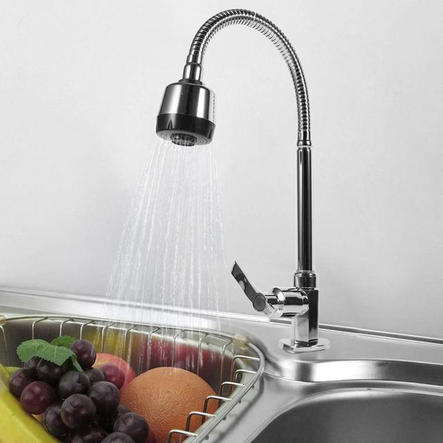360 Degree Rotating Zinc Alloy Swivel Spout Single Handle Sink Kitchen  Faucet Pull Down Spray Cold
