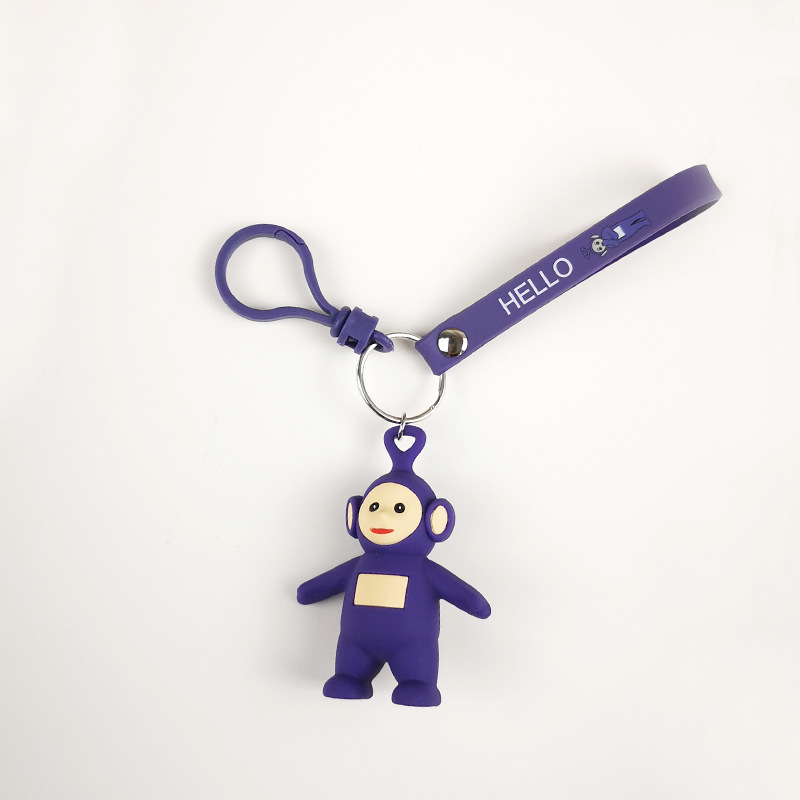 Original cartoon Girls Or Women Keychain teletubbies Key Chain For Children Christmas Gift keychain action figure hot cartoon in Key Chains from Jewelry Accessories