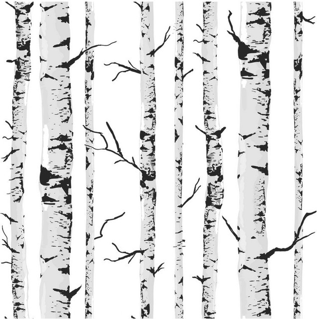 Fabulous Birch Tree pattern PVC woods wallpaper TV Background Roll or  WX27