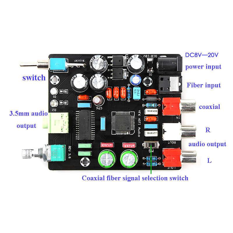 TDA1305 デジタルデコーダ基板ファイバー同軸デコードセットトップボックステレビ繊維同軸出力 DC8-16V DAC ボードインタフェースカード