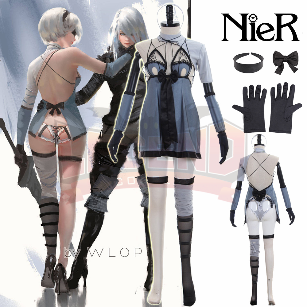 nier automatas NieR Automata 2b costume DLC 2017 new version YoRHa No. 2 Type B 2B Cosplay Costume adult costume full set-in Game Costumes from Novelty & Special Use    1