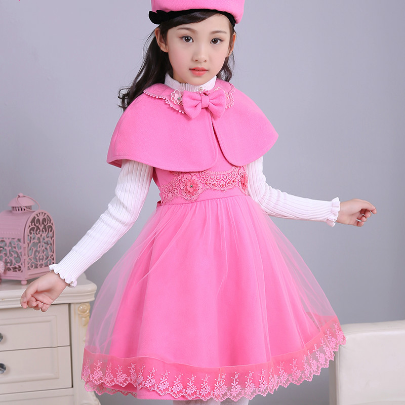 Children's clothing girls dress princess dress autumn and winter fashion children's dress show girl dress dress gina bacconi dress