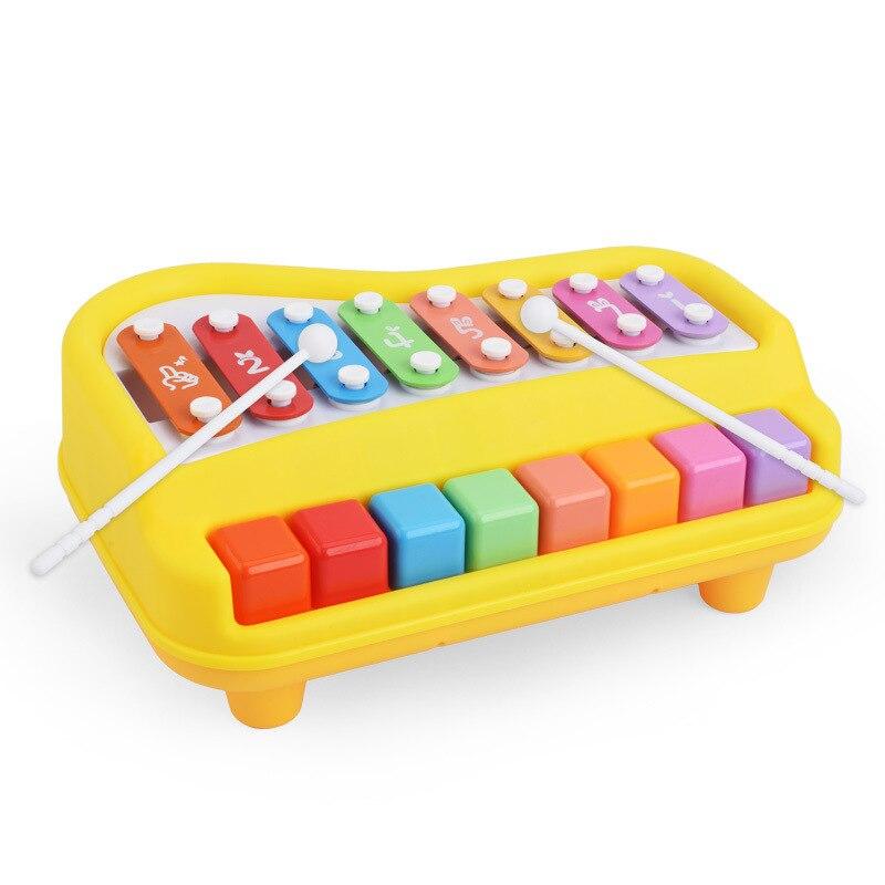 Bébé jouet Instrument de musique coloré arc-en-ciel main frapper Piano 8-Note développement de l'apprentissage précoce jouets musicaux enfants filles cadeau