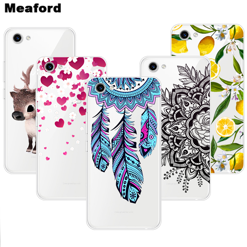 For <font><b>VIVO</b></font> <font><b>Y81</b></font> Case VivoY81 TPU Silicone Soft Floral Cartoon Clear Case for <font><b>Vivo</b></font> <font><b>Y81</b></font> Y 81 6.22