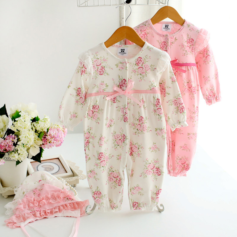 Baby girl romper 100% cotton spring and autumn princess formal dress jumpsuit infant outfit ropa para bebe newborn baby clothes newborn infant baby girl clothes strap lace floral romper jumpsuit outfit summer cotton backless one pieces outfit baby onesie