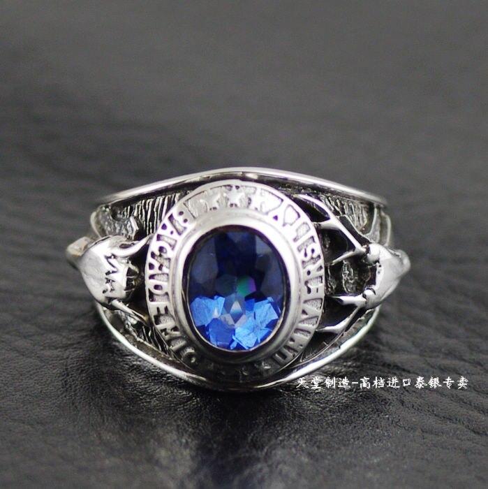 Японские ювелирные изделия Ретро панк 925 пробы серебряные кольца wapiti серебряное кольцо