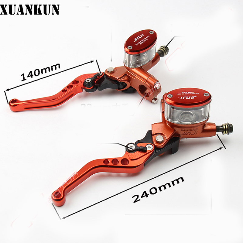 XUANKUN Off-Road Motorcycle Modified CNC Brake On The Pump Hydraulic Clutch On The Pump Adjustment Handle Visible Oil Cup xuankun off road motorcycle modified led taillights turn lights brake lights license plate tail lighthouse