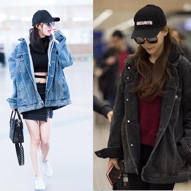 Rock Cool Punk Oversize Women Men Jeans Jacket Hooded Cashmere Overcoat Female lady Korean Preppy Male Jackets Demin cowboy Coat