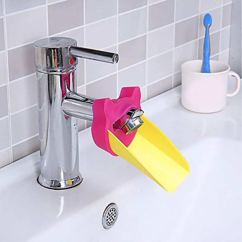 Kids Baby Hand-washing Device Home Bathroom Faucet Extender Cartoon Children's Guide Sink Faucet Extension Bathroom Accessories