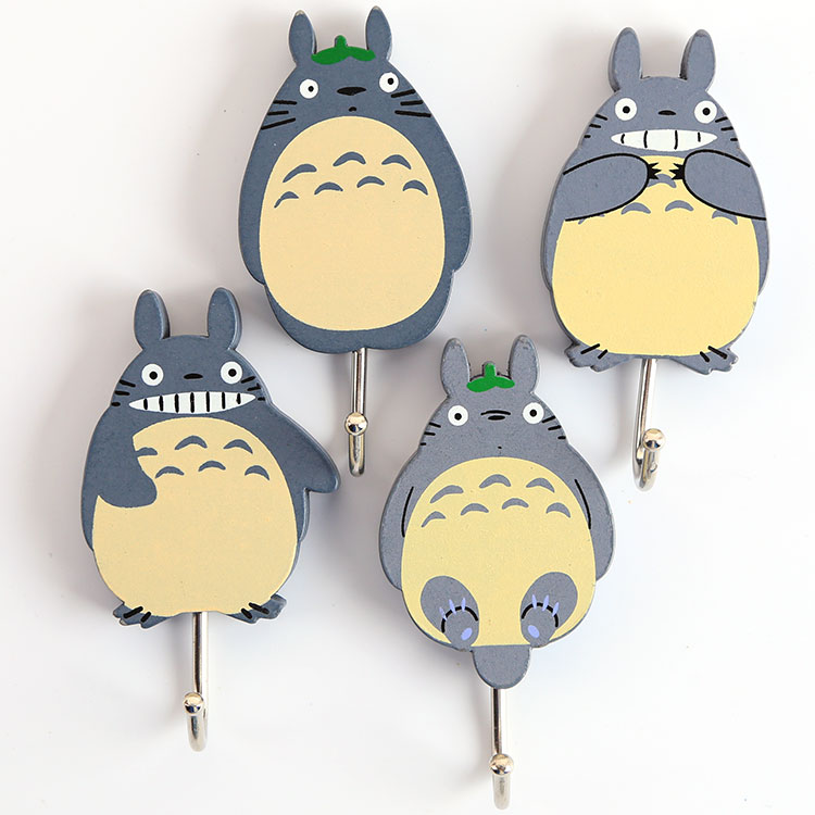 40 pcs lot Japanese anime Miyazaki Hayao My Neighbor Totoro cute strong stick hooks Totoro figure